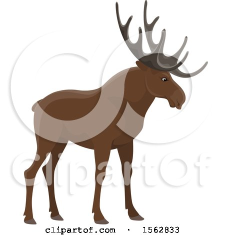 Clipart of a Moose - Royalty Free Vector Illustration by Vector Tradition SM