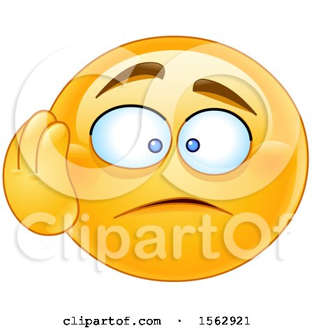 Clipart of a Yellow Emoji with a Dismayed Expression - Royalty Free Vector Illustration by yayayoyo