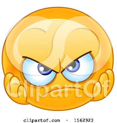 Clipart of a Yellow Emoji with a Disappointed Expression - Royalty Free Vector Illustration by yayayoyo