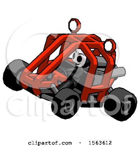 Black Little Anarchist Hacker Man Riding Sports Buggy Side Top Angle View by Leo Blanchette