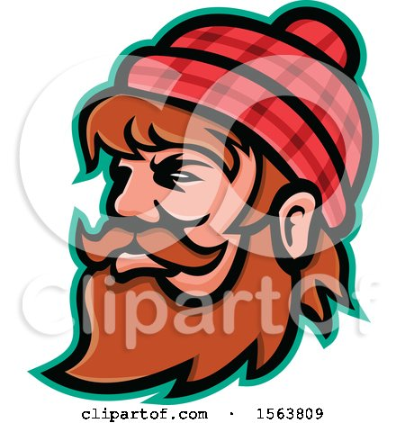 Clipart of a Mascot of Paul Bunyan - Royalty Free Vector Illustration by patrimonio