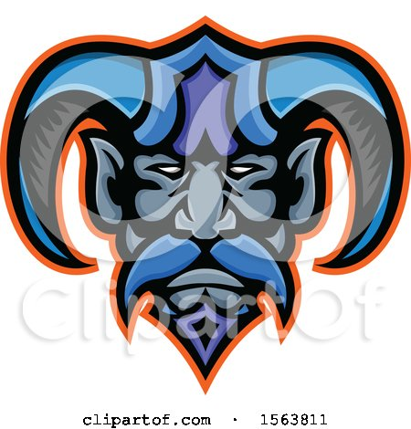 Clipart of a Hades Greek God Mascot Face - Royalty Free Vector Illustration by patrimonio