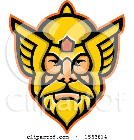 Clipart of a Mascot of Thor - Royalty Free Vector Illustration by patrimonio
