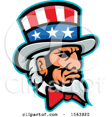Clipart of a Mascot of Uncle Sam - Royalty Free Vector Illustration by patrimonio