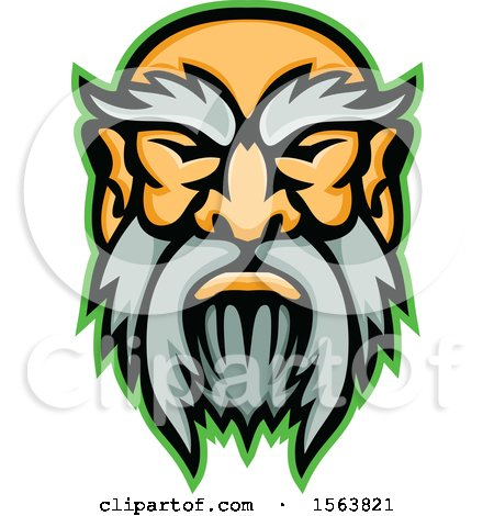 Clipart of a Cronus Mascot Face - Royalty Free Vector Illustration by patrimonio