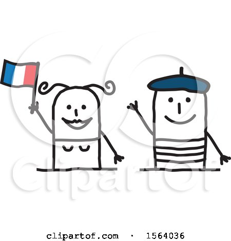 Happy Stick French Couple Posters, Art Prints