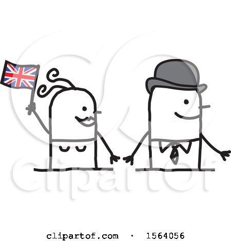 Happy Stick British Couple Posters, Art Prints
