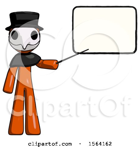 Orange Plague Doctor Man Giving Presentation in Front of Dry-erase Board by Leo Blanchette