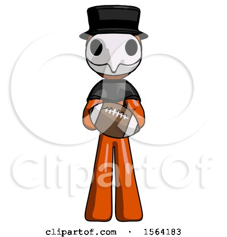 Orange Plague Doctor Man Giving Football to You by Leo Blanchette