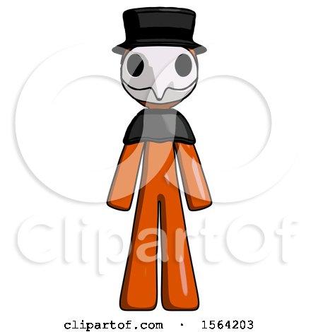 Orange Plague Doctor Man Standing Facing Forward by Leo Blanchette