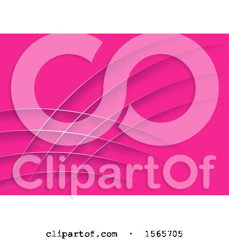 Clipart of a Pink Background with Swooshes - Royalty Free Vector Illustration by dero