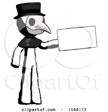 Ink Plague Doctor Man Holding Large Envelope by Leo Blanchette