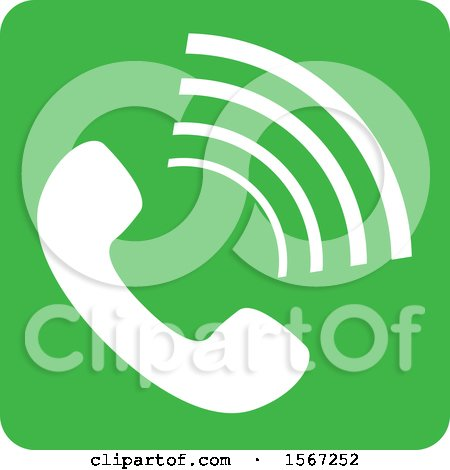 Clipart of a Phone Icon - Royalty Free Vector Illustration by dero