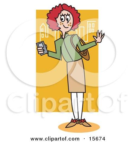 Preppy Redhead School Girl Posters, Art Prints