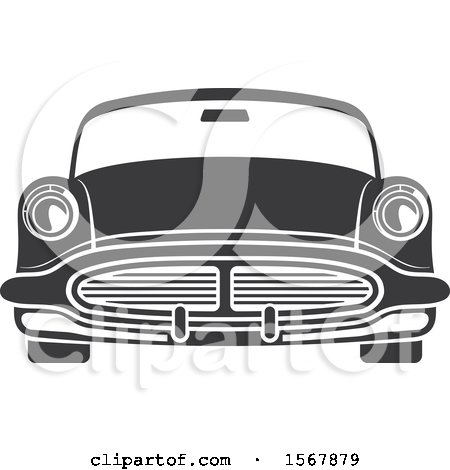 Clipart of a Vintage Car Automotive Icon - Royalty Free Vector Illustration by Vector Tradition SM