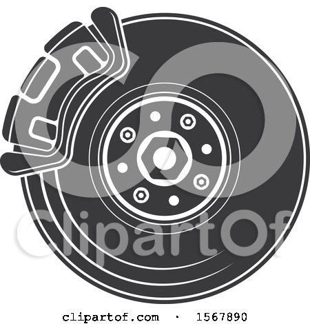 Clipart of a Tire Automotive Icon - Royalty Free Vector Illustration by Vector Tradition SM
