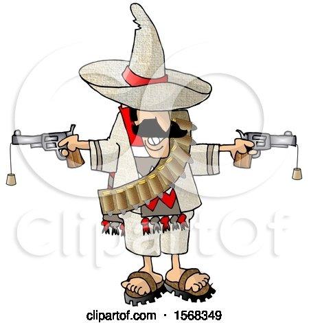 Mexican Bandito Holding Two Cork Guns Posters, Art Prints
