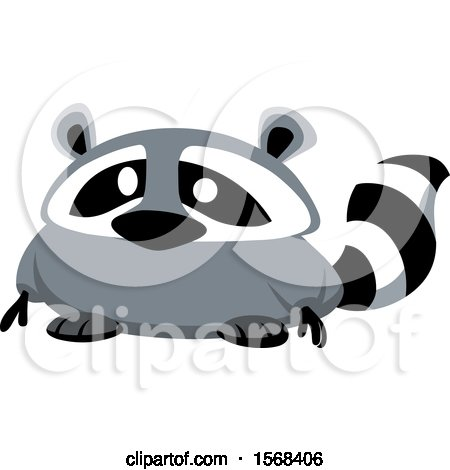 Clipart of a Cute Fat Raccoon - Royalty Free Vector Illustration by yayayoyo