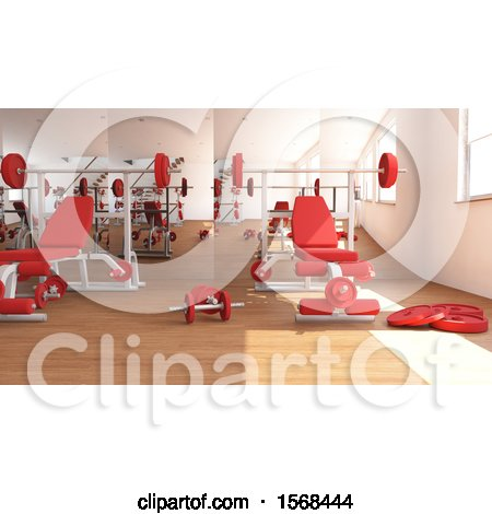 Clipart of a d gym interior royalty free illustration by kj