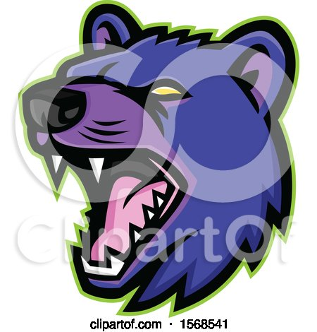 Clipart of a Tough Purple Tasmanian Devil Sports Mascot - Royalty Free Vector Illustration by patrimonio