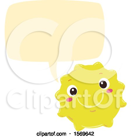 Clipart of a Yellow Sun Talking - Royalty Free Vector Illustration by BNP Design Studio