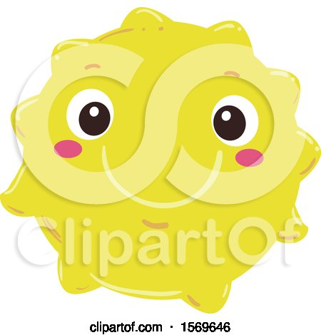 Clipart of a Happy Yellow Sun - Royalty Free Vector Illustration by BNP Design Studio