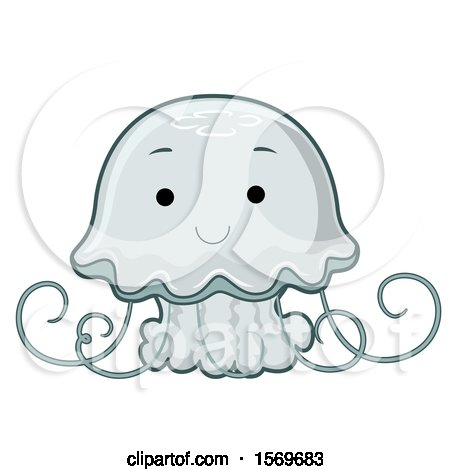 Clipart of a Cute Jellyfish - Royalty Free Vector Illustration by BNP Design Studio