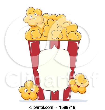 Popcorn Mascot Character Posters, Art Prints