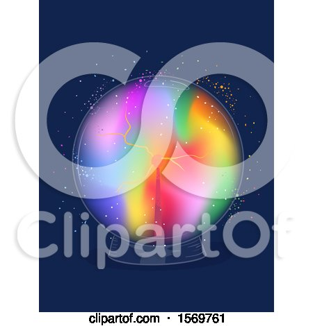 Colorful Electric Sphere or Crystal Ball Posters, Art Prints