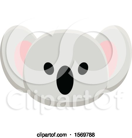 Clipart of a Cute Koala Face - Royalty Free Vector Illustration by yayayoyo
