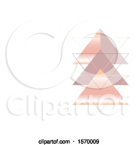 Clipart of a Geometric Design with Triangles and Text Space - Royalty Free Vector Illustration by KJ Pargeter