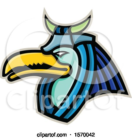 Clipart of an Ancient Egyptian Mascot of Thoth - Royalty Free Vector Illustration by patrimonio