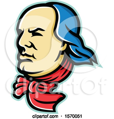 Clipart of a Mascot of Benjamin Franklin - Royalty Free Vector Illustration by patrimonio