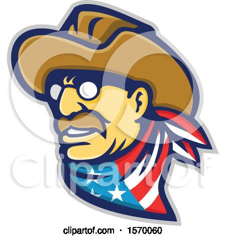 Clipart of a Mascot of Teddy Roosevelt - Royalty Free Vector Illustration by patrimonio