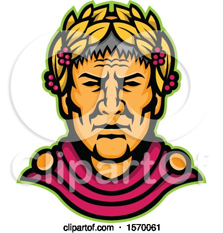 Clipart of a Mascot of Julius Caesar - Royalty Free Vector Illustration by patrimonio