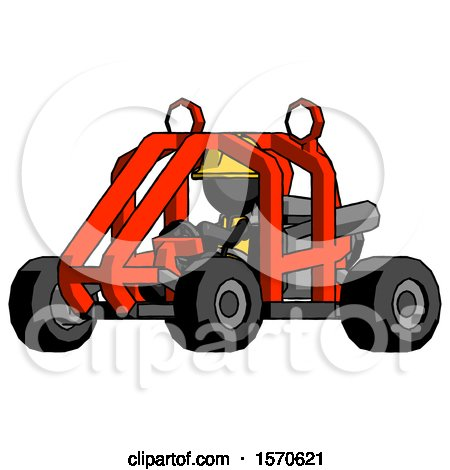 Black Construction Worker Contractor Man Riding Sports Buggy Side Angle View by Leo Blanchette
