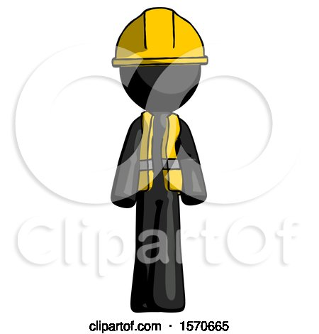 Black Construction Worker Contractor Man Walking Front View by Leo Blanchette