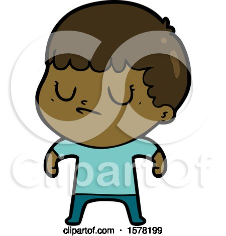 Cartoon Grumpy Boy by lineartestpilot
