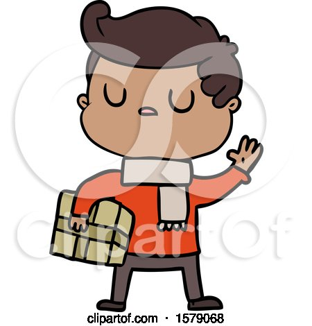 Cartoon Aloof Man by lineartestpilot