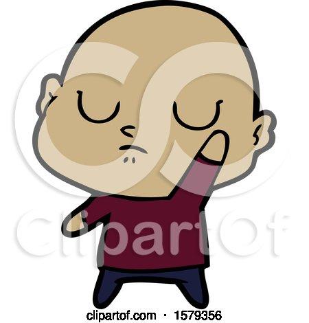 Cartoon Bald Man by lineartestpilot