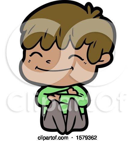Cartoon Happy Boy by lineartestpilot