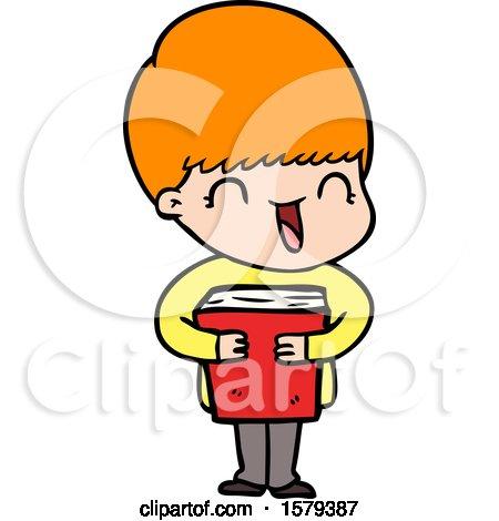 Happy Cartoon Boy by lineartestpilot