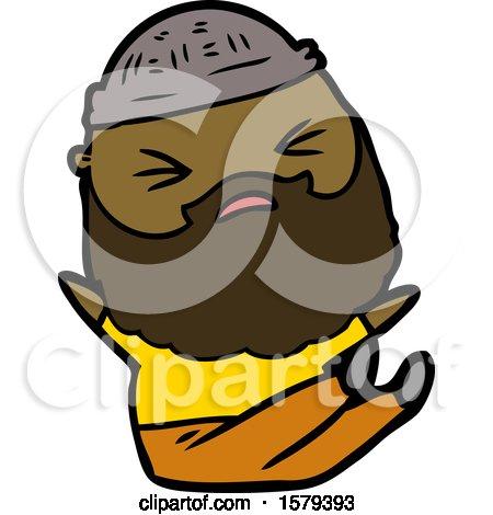 Cartoon Man with Beard by lineartestpilot