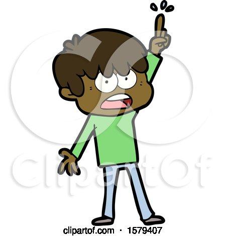 Worried Cartoon Boy by lineartestpilot