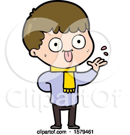 Cartoon Man Staring by lineartestpilot