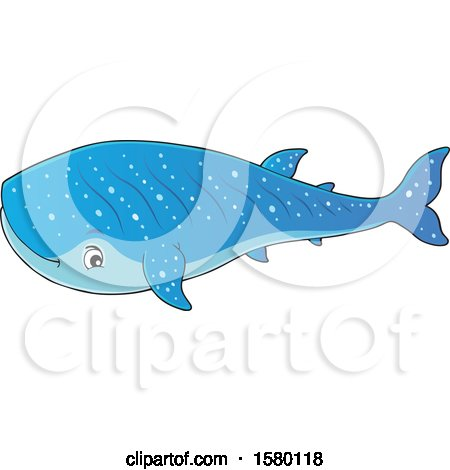 Clipart of a Cute Whale Shark - Royalty Free Vector Illustration by visekart