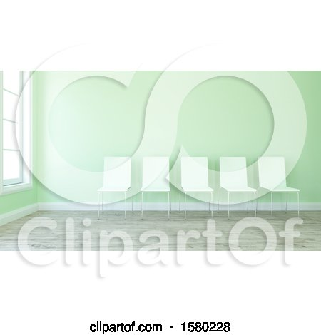 Clipart of a 3d Lobby Room Interior - Royalty Free Illustration by KJ Pargeter