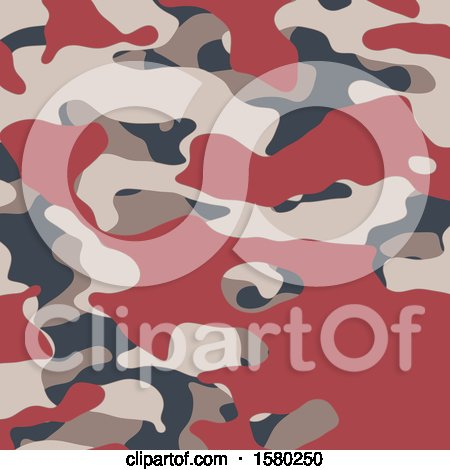 Clipart of a Camouflage Background - Royalty Free Vector Illustration by KJ Pargeter