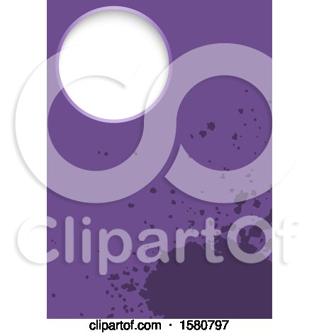 Clipart of a Purple Splatter Background - Royalty Free Vector Illustration by dero