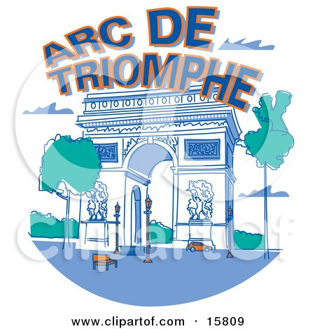 the Arc de Triomphe in Paris France Posters, Art Prints